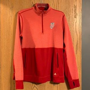 Wisconsin Badgers Adidas 1/4 Zip